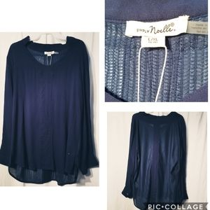 Simply Noelle boutique high low blouse weave back